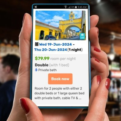 Responsive mobile booking engines for backpacker hostels